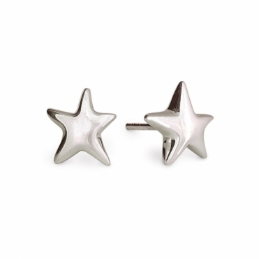 Sterling Silver Star Stud Earrings