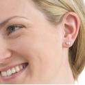 Sterling Silver Sweetheart Stud Earrings