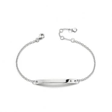 Sterling Silver Tabitha Adults Blue Sapphire ID Bracelet