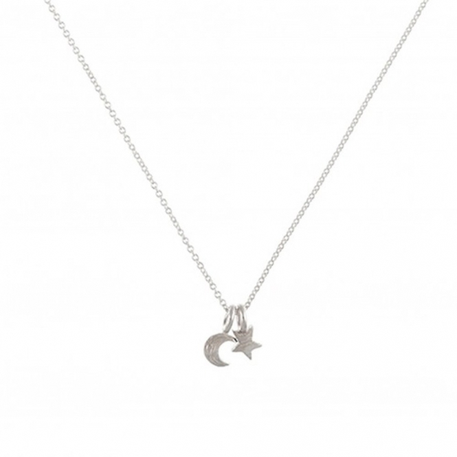 Sterling Silver Twilight Moon & Star Necklace