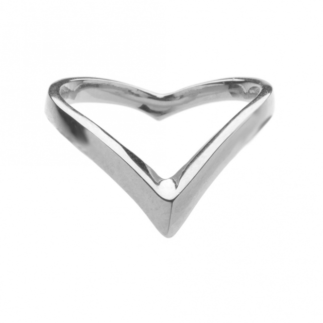 Sterling Silver Venom Plain Wishbone Ring