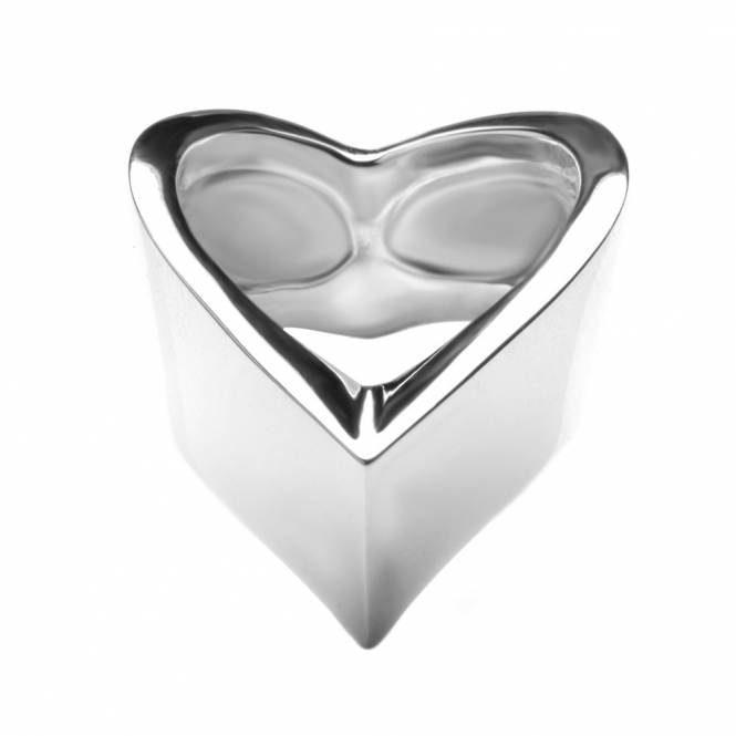 Sterling Silver Venom Wide Wishbone Ring