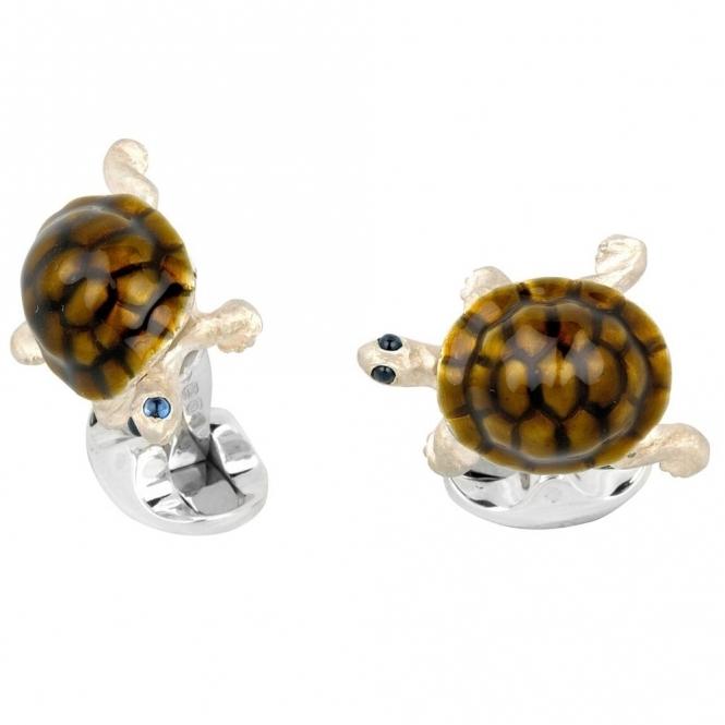 Sterling Silver Walking Tortoise Cufflinks