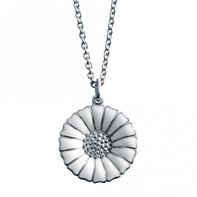 Sterling Silver White Daisy Pendant