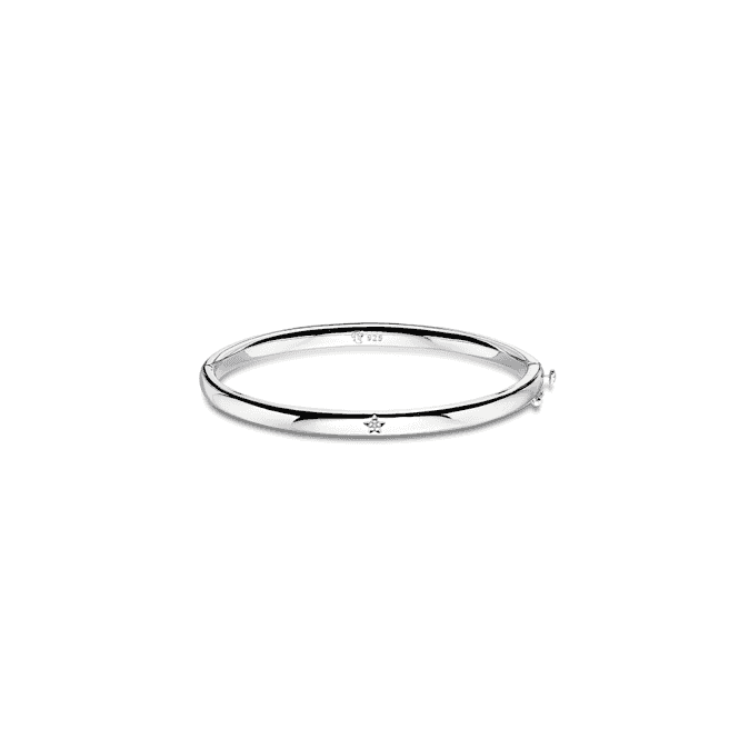 Sterling Silver Xandra Diamond Hinged Baby Bangle