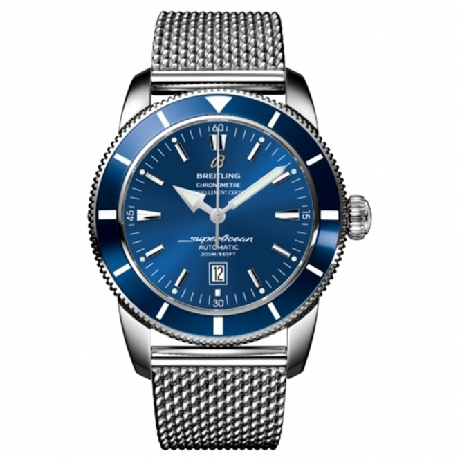 Superocean Heritage 46mm Chronometer with Blue Dial