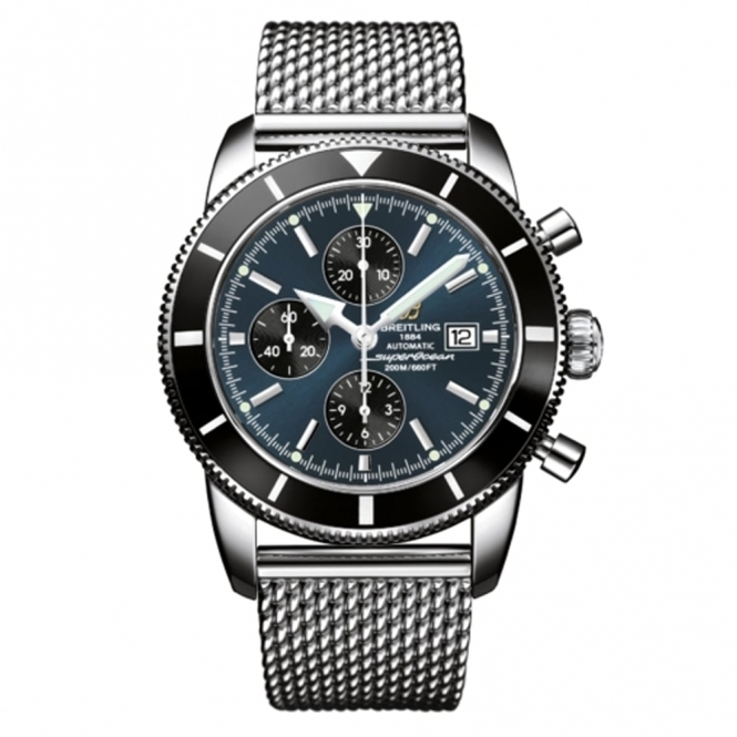 """Superocean Heritage Automatic Chronograph 46mm with """"black-eyed blue"""" dial -A1332024"""