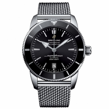 Superocean Heritage II 46 automatic chronometer with Volcano Black dial