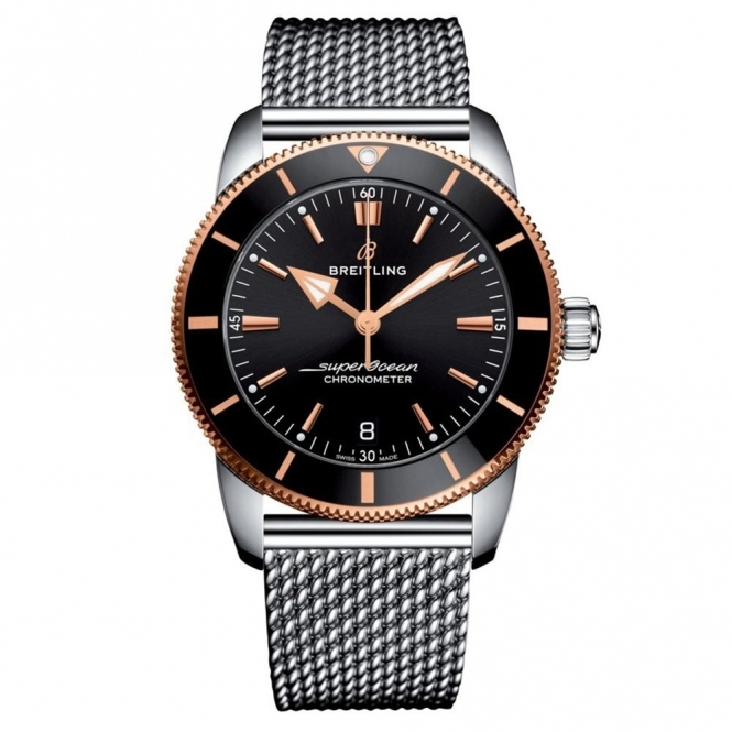 Superocean Heritage II B20 42mm Rose Gold and Black