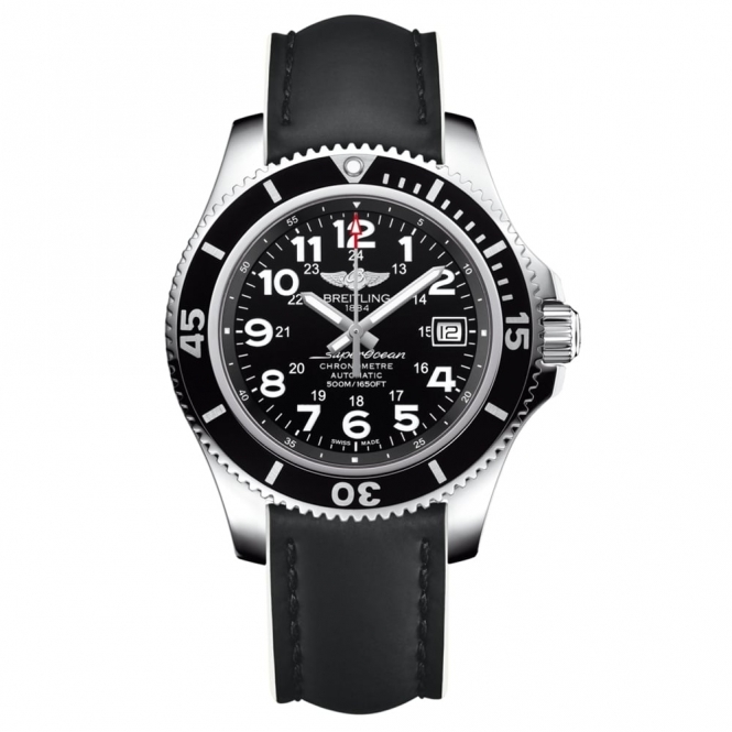 Superocean II 42mm Automatic Chronometer with Black and White Strap
