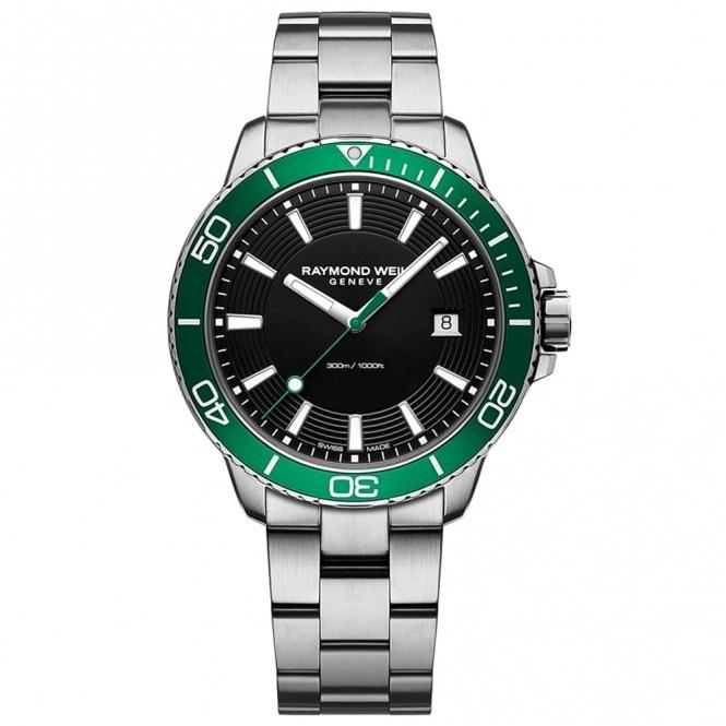 Tango 300 Gents Divers Quartz Watch with Green Bezel