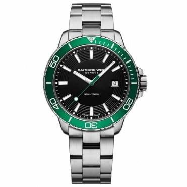 Tango 300 Gents Divers Quartz Watch with Green Bezel