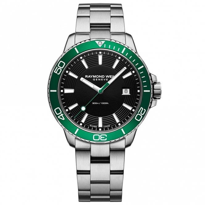 Tango 300 Men's Divers Quartz Watch with Green Bezel