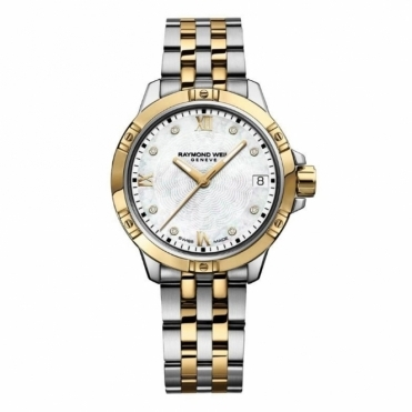 Tango ladies Steel and Yellow Gold PVD quartz watch with Diamonds