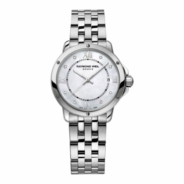 Tango Stainless Steel, Mother of Pearl and Diamond Ladies Watch