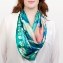 Teal & Pink Am Byth Scarf