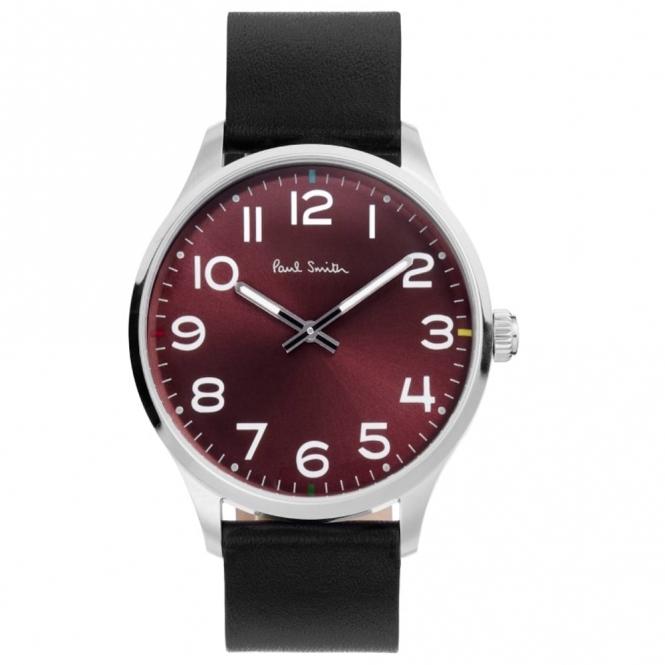 Tempo 2 Hand Quartz Watch with Burgundy Dial