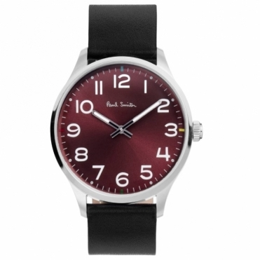 Tempo 2 Hand Quartz Watch with Burgundy Dial