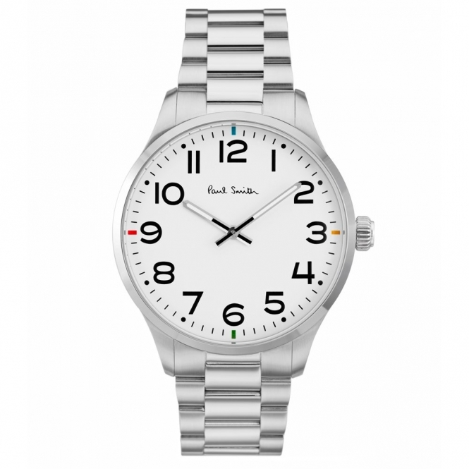 Tempo Stainless Steel Watch with Silver Dial & Arabic Numbers