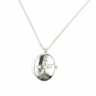 Tiangel Silver Angel Locket RRP £170