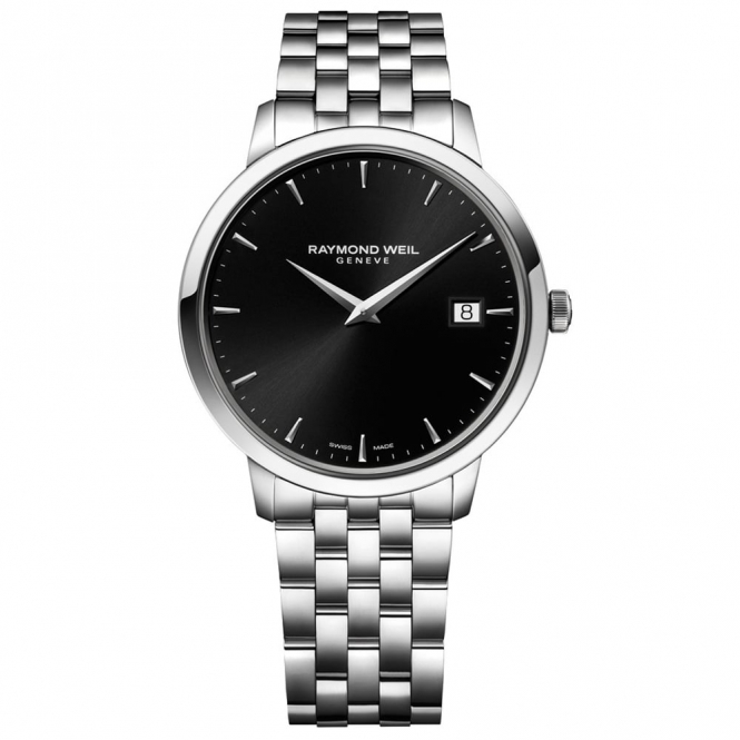 Toccata Gents Steel Quartz Watch with Black Dial