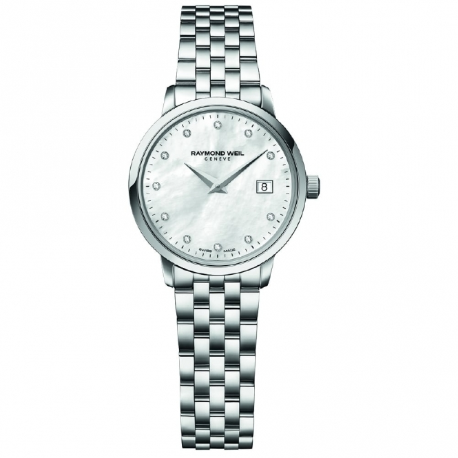 Toccata Ladies Stainless Steel Quartz Watch with Mother-of-Pearl Dial and Diamond Hours
