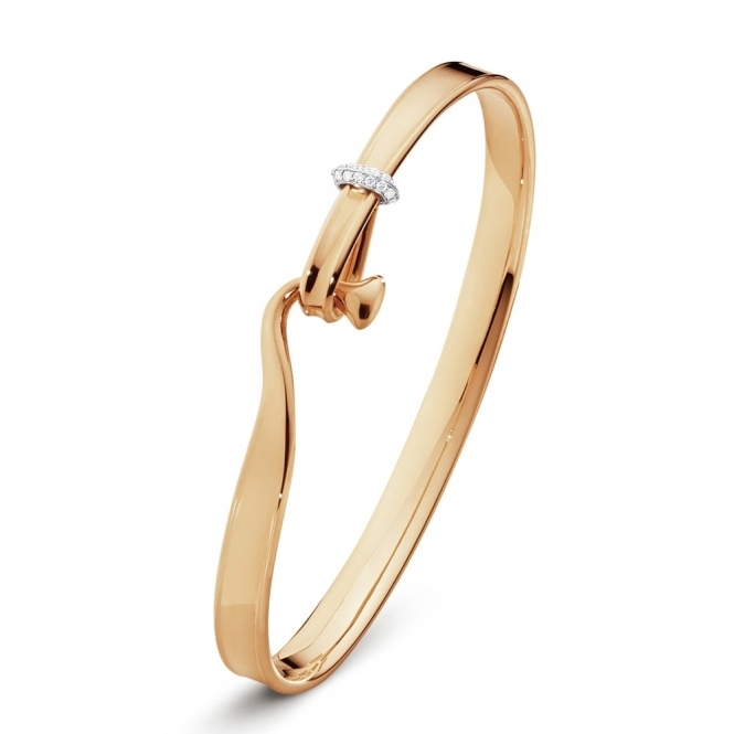 Torun 18ct Rose Gold and Diamond Bangle