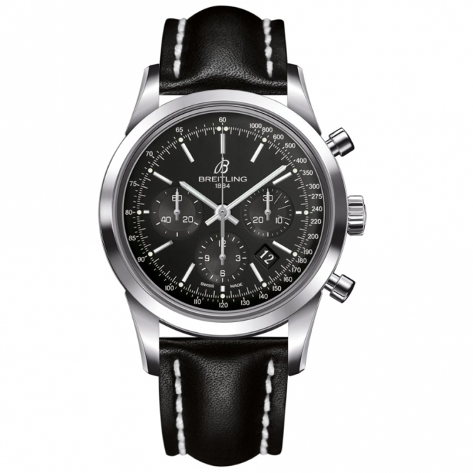 Transocean Chronograph Automatic Watch with Crystal Back