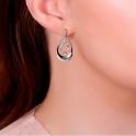 Tree of Life White Topaz Drop Earrings