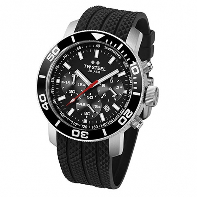 TW Steel Watch Grandeur Diver 20 ATM Quartz Chronograph Watch