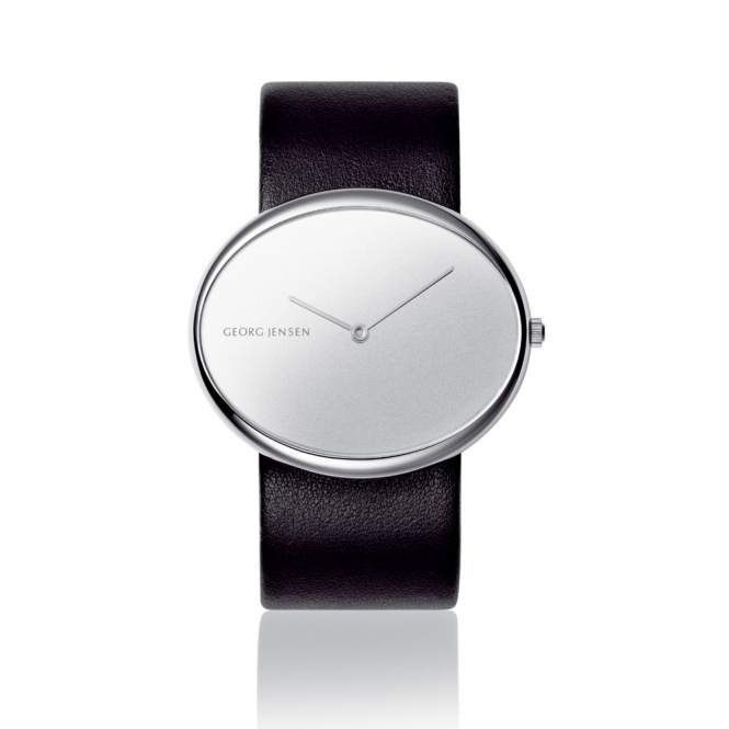 Vivianna Oval 323 Quartz Las Watch With Mirror Dial And Black White Straps 3575027