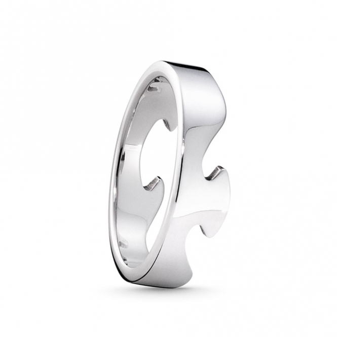 White Gold Fusion 1367A End Ring