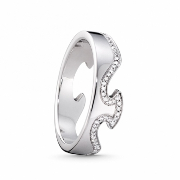 White Gold Fusion 1371 End Ring