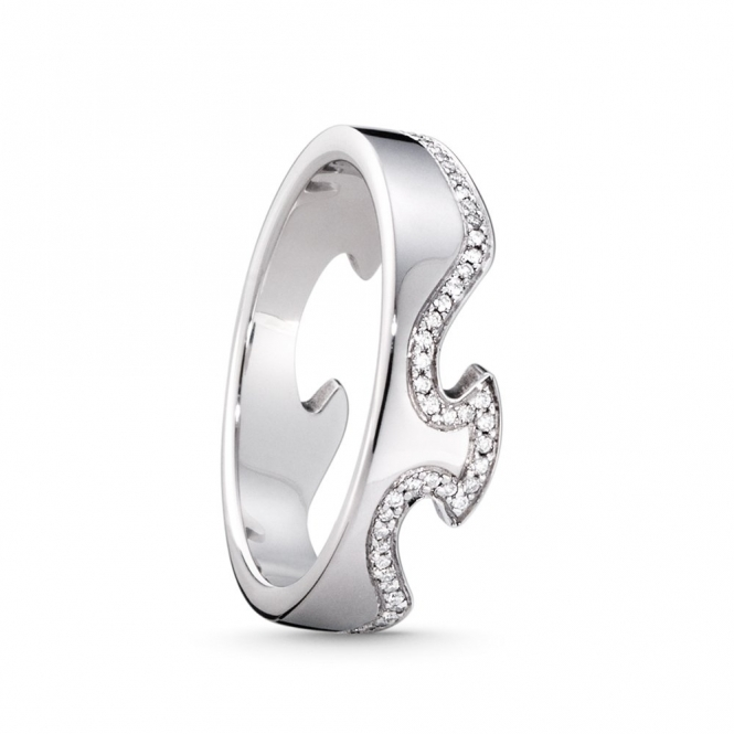 White Gold Fusion Diamond 1371 End Ring