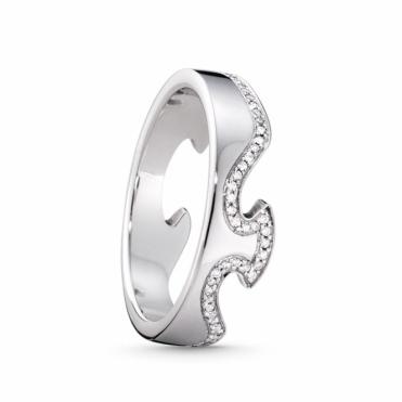 White Gold Fusion Diamond 1371 End Ring