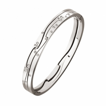 White Gold Fusion Diamond Bangle