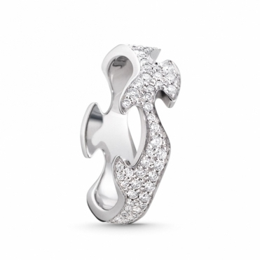 White Gold Fusion Diamond Centre Ring
