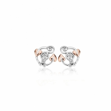 White Topaz Origin Stud Earrings