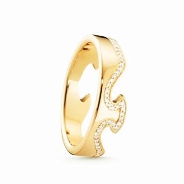 Yellow Gold Fusion Diamond 1371 End Ring