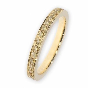 Yellow Gold yellow diamond full eternity Ring